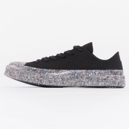 Converse Chuck 70 Ox Recycled Knit Black/String/Barely Volt1