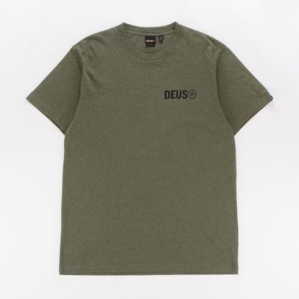 Deus Ex Machina Cogs T-Shirt Maple Leaf Marle1