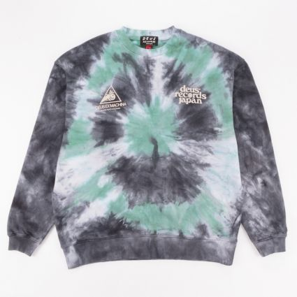 Deus Ex Machina James Tie-Dye Crew Sweatshirt Phantom Black1