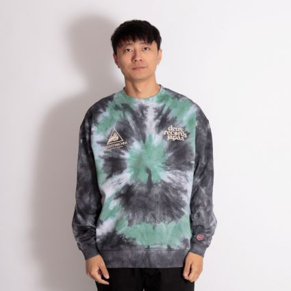 Deus Ex Machina James Tie-Dye Crew Sweatshirt Phantom Black