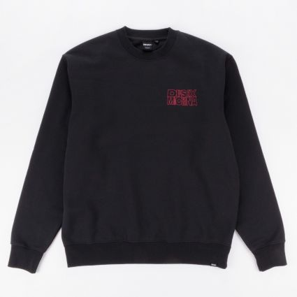 Deus Ex Machina Profound Crew Neck Sweatshirt Phantom Black1