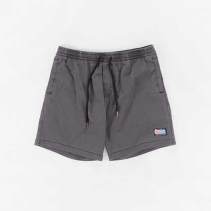 Deus Ex Machina Sandbar Solid Dye Shorts Phantom Black1