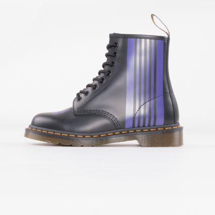 Dr Martens x Needles 1460 Stripe Smooth Black/Purple1