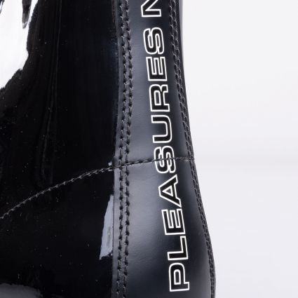 Dr Martens x Pleasures 1460 Boot Black Smooth+Patent Lamper