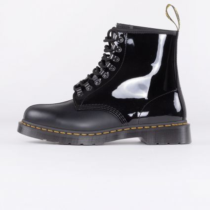 Dr Martens x Pleasures 1460 Boot Black Smooth+Patent Lamper1