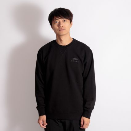 Edwin Base Crew Sweatshirt Black
