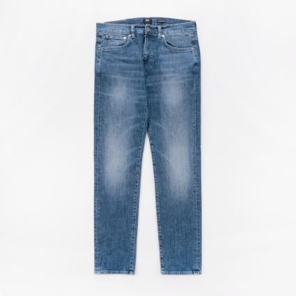 Edwin ED-80 Slim Tapered Blue Takeo Wash1