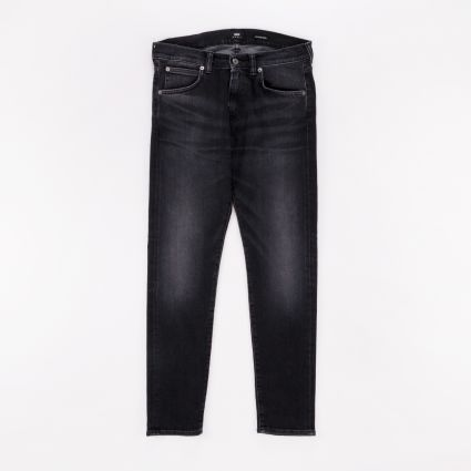 Edwin ED-85 Slim Tapered Drop Crotch Jeans Black Kioko Wash
