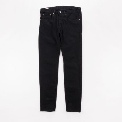Edwin Slim Tapered Stretch Selvage Denim Jeans Black Rinsed1