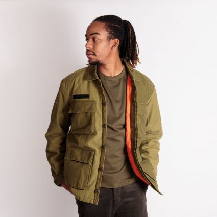 Edwin Survival Jacket Lined Mili Patchwork Enzyme Washed