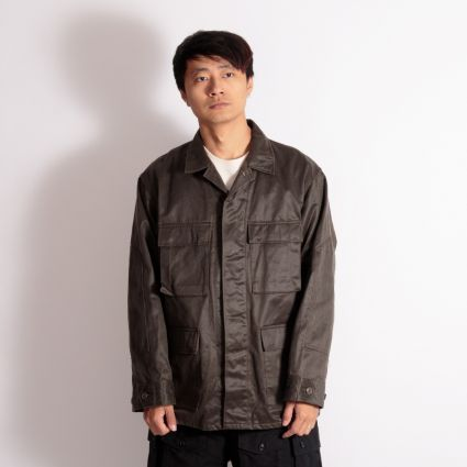 Engineered Garments BDU Jacket Dark Olive Coated Twill