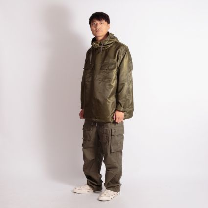 Engineered Garments Cagoule Shirt Olive Drab Polyester Pilot Twill