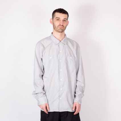 Engineered Garments Classic Shirt Silver Melange Cotton Sheeting