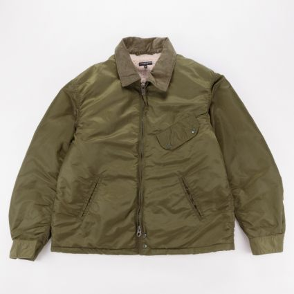Engineered Garments Driver Jacket Olive Flight Satin Nylon1