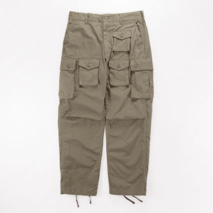 Engineered Garments FA Pant Olive Cotton Herringbone Twill1