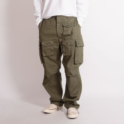 Engineered Garments FA Pant Olive Cotton Herringbone Twill
