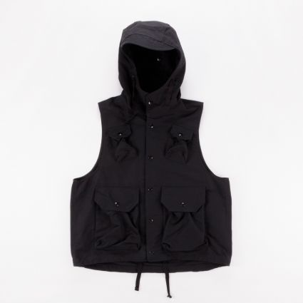 Engineered Garments Field Vest Black Cotton Double Cloth1