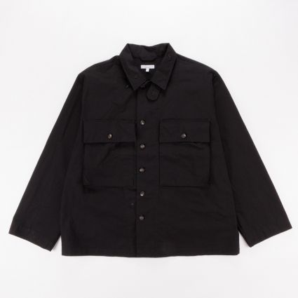 Engineered Garments M43/2 Shirt Jacket Black Cotton Ripstop1