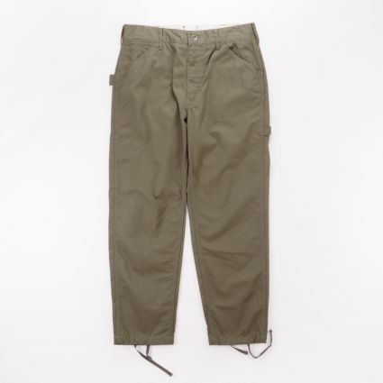 Engineered Garments Painter Pant Olive Cotton Herringbone Twill1