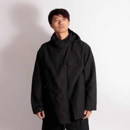 Engineered Garments Sonor Shirt Jacket Black Cotton Double Cloth
