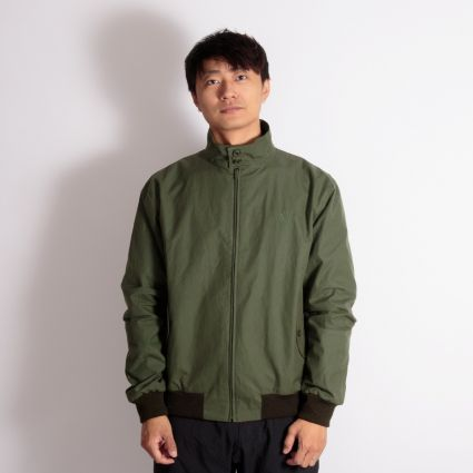 Fred Perry Made In England Wax Harrington Jacket Dark Fern