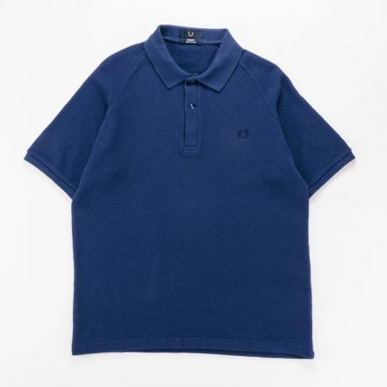 Fred Perry Mesh Pique Polo Shirt French Navy1