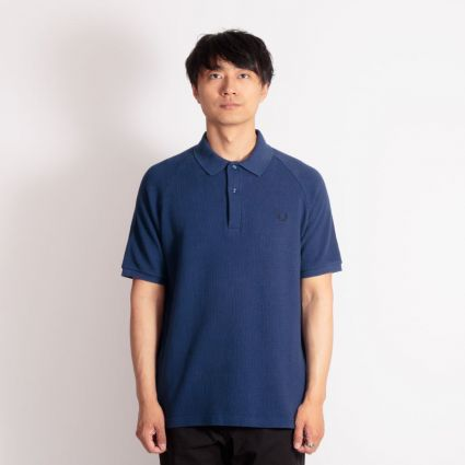 Fred Perry Mesh Pique Polo Shirt French Navy