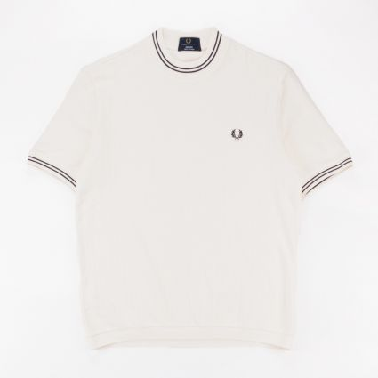 Fred Perry Reissues Crew Neck Piqué T-Shirt Ecru1