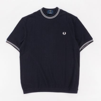 Fred Perry Reissues Crew Neck Piqué T-Shirt Navy1