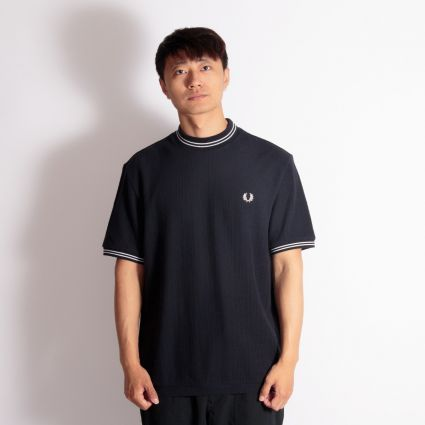Fred Perry Reissues Crew Neck Piqué T-Shirt Navy
