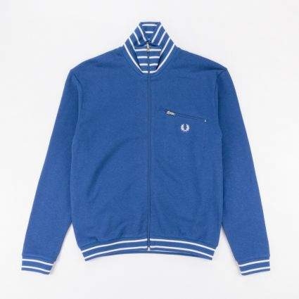 Fred Perry Reissues Striped Neck Track Jacket Bright Blue1