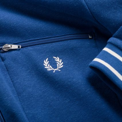 Fred Perry Reissues Striped Neck Track Jacket Bright Blue
