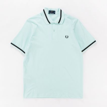 Fred Perry Single Tipped Shirt Brighton Blue1