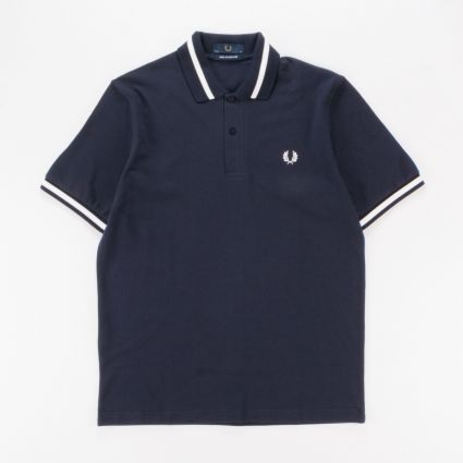Fred Perry Single Tipped Shirt Navy1