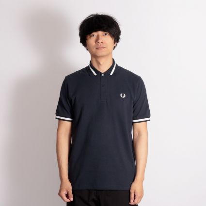 Fred Perry Single Tipped Shirt Navy