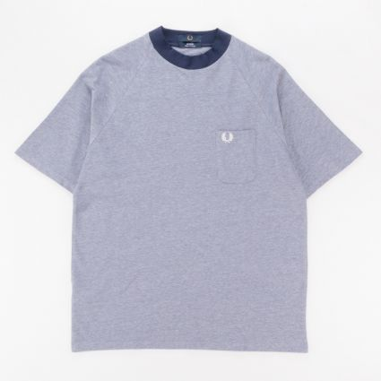 Fred Perry Two Tone Pique T-Shirt Carbon Blue1