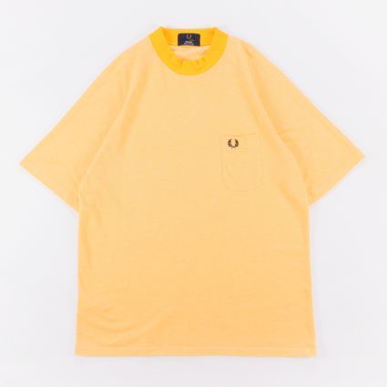 Fred Perry Two Tone Piqué T-Shirt Citrus Yellow