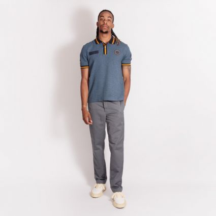 Fred Perry x Nicholas Daley Badge Polo Navy