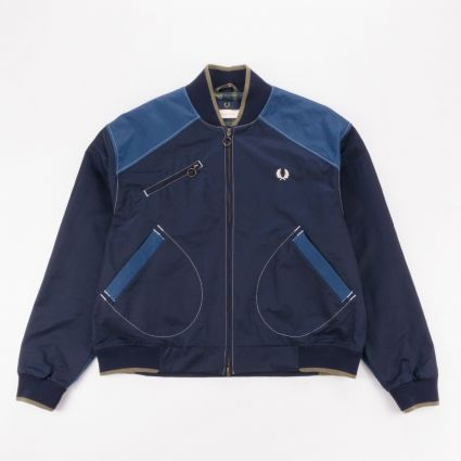 Fred Perry x Nicholas Daley Contrast Trim Bomber Jacket Navy1