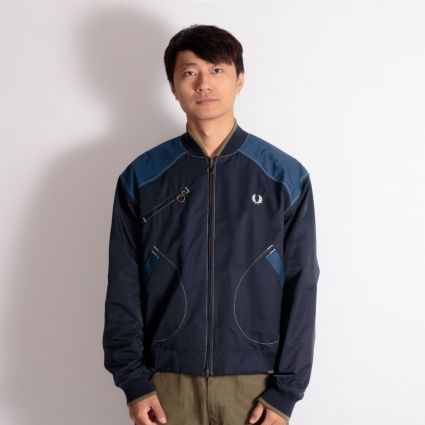 Fred Perry x Nicholas Daley Contrast Trim Bomber Jacket Navy