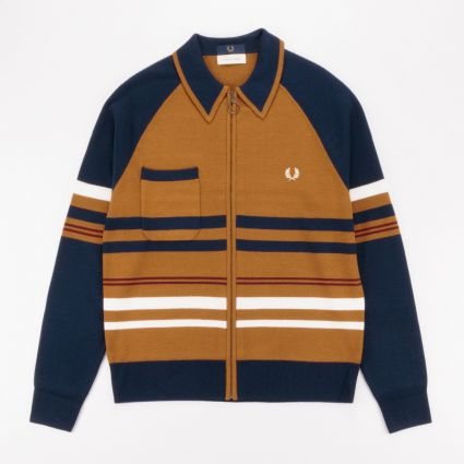 Fred Perry x Nicholas Daley Knitted Zip Through Gold Leaf1