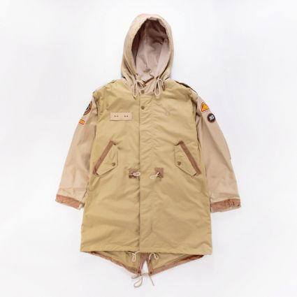 Fred Perry x Nicholas Daley Patch Parka Camel1