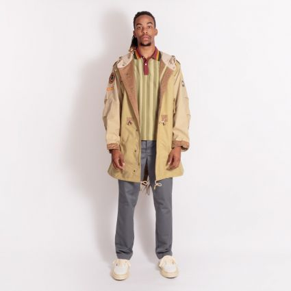Fred Perry x Nicholas Daley Patch Parka Camel