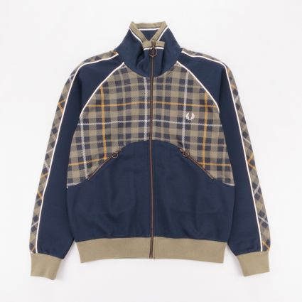 Fred Perry x Nicholas Daley Tartan Track Jacket Shaded Navy1
