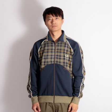 Fred Perry x Nicholas Daley Tartan Track Jacket Shaded Navy
