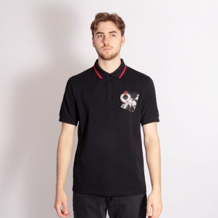 Fred Perry x Raf Simons Chest Patch Tipped Polo Shirt Black