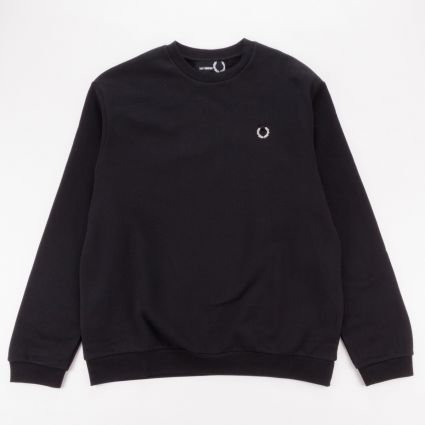 Fred Perry x Raf Simons Laurel Wreath Detail Sweatshirt Black1