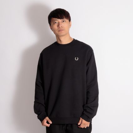 Fred Perry x Raf Simons Laurel Wreath Detail Sweatshirt Black