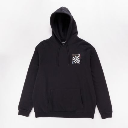 Fred Perry x Raf Simons Pin Detail Printed Patch Hoodie Black1