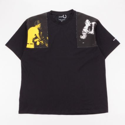 Fred Perry x Raf Simons Printed Panel T-Shirt Black1